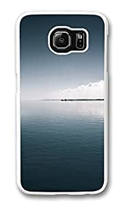 VUTTOO Rugged Samsung Galaxy S6 Case, Calm Sea Harbor Horizon PC Plastic Hard Case Cover for Samsung Galaxy S6 PC Transparent