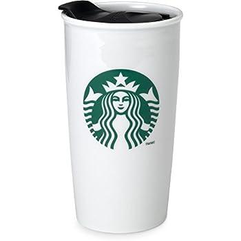 Amazon Com Starbucks Coffee Double Wall Ceramic Travel