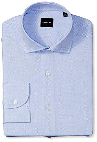 cerruti-1881-mens-herringbone-dress-shirt-blue-40