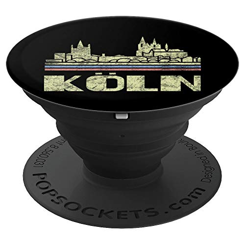 (Koln City Skyline Germany Retro Deutschland Cityscape 70s 80 - PopSockets Grip and Stand for Phones and)