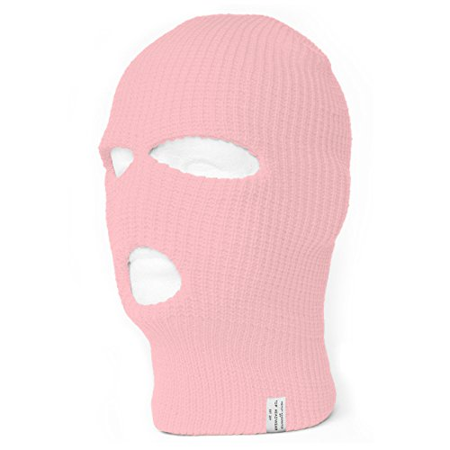 Face Ski Mask 3 Hole Pink