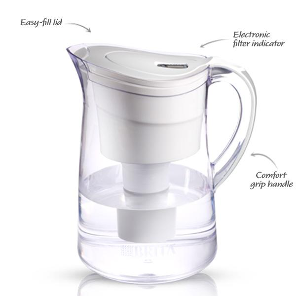 .com: brita vintage water filter pitcher, white, 10 cup ...