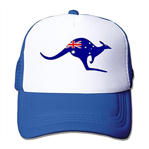 [Australia Flag Kangaroo Man Womans Adjustable Classic Caps Mesh Hat] (Ladies Baseball Costume Australia)