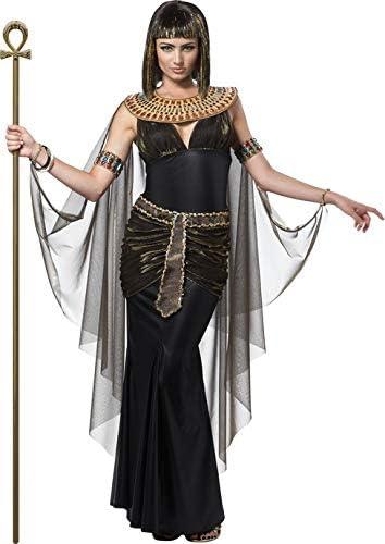 Egipcio Reina pharaonin para mujer Disfraz Negro de oro: Amazon.es ...