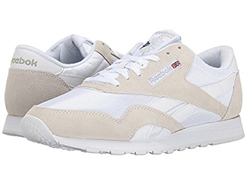 Reebok Homme Basses Nylon Classic Sneakers Gris Clair Blanc Et fWrqCf