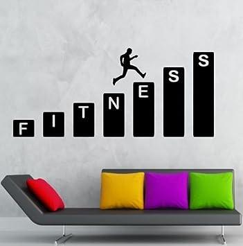 Creative Design Gym Sport Fitness Abnehmbare Umweltfreundliche PVC Zitat  Wand Aufkleber Für Gym Dcoration Wandmalereien Für