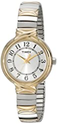 """Timex Women's T2N9799J """"Elevated Classics"""" Watch With Two-Tone Expansion Band"""