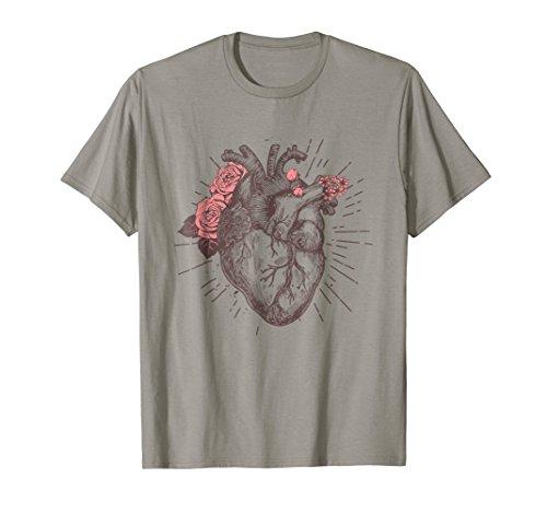 Womens Anatomical Heart Human Heart Anatomy Shirt Girls Tee