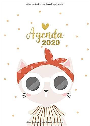 Agenda 2020: Tema Gatos Agenda Mensual y Semanal + ...