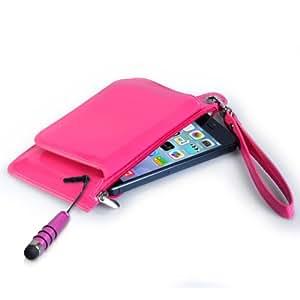 Caseflex Samsung Galaxy A5 Case Hot Pink PU Leather Purse Cover With Mini Stylus Pen