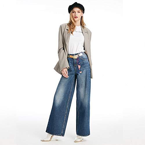 Jeans Azul de Anchos MVGUIHZPO Pantalones Profundo Anchos Mujer Pantalones XS XL Blancos Vaqueros Pantalones Pantalones Xw5Z0PqZx