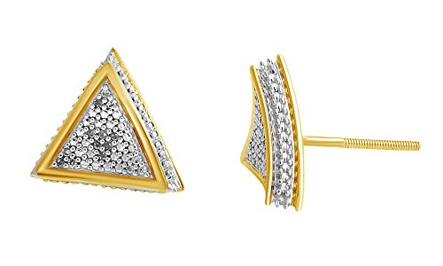 Diamond Triangle Earrings - 8