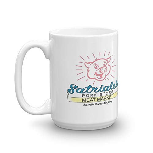 Variant Red Jersey - Satriale's - Red Piggy Variant. 15 Oz Ceramic Glossy Gift For Coffee Lovers Quote Mug Gifts For Men & Women. 15 Oz Ceramic Glossy Mugs Gift For Coffee Lover