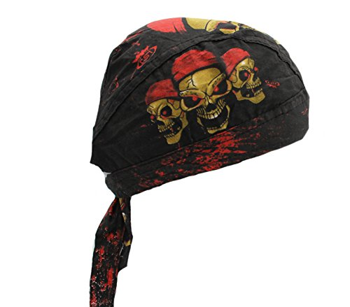 Skull Rider Head Wrap Bandana Doo Wrap Skully