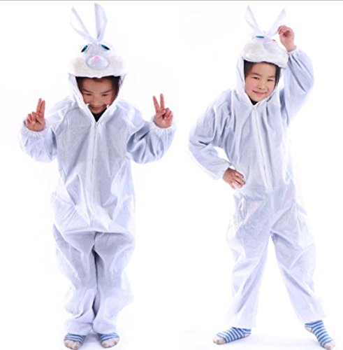 Funny White Rabbit children Party Costume Fit For height 47.2
