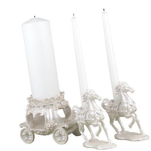Hortense B. Hewitt Wedding Accessories, Unity Candle Stand, Once Upon a Time, 3 Pieces (Candle Choice Stand)