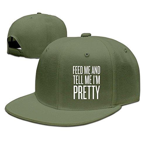Runy Custom Feed Me And Tell Me Im Pretty Adjustable Baseball Hat & Cap ForestGreen