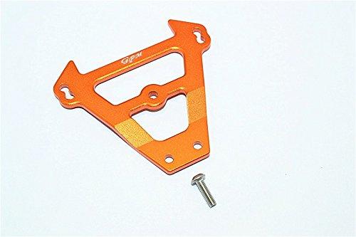GPM Traxxas E-Revo Brushless / E-Revo VXL 2.0 Upgrade Parts Aluminum Front Bulkhead - 1Pc Set Orange ()