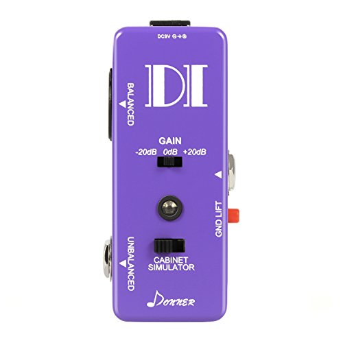 Donner Guitar Bass Passive DI Box Instrument to Balanced & Unbalanced Micro Direct Box (Bass Guitar Direct Boxes)