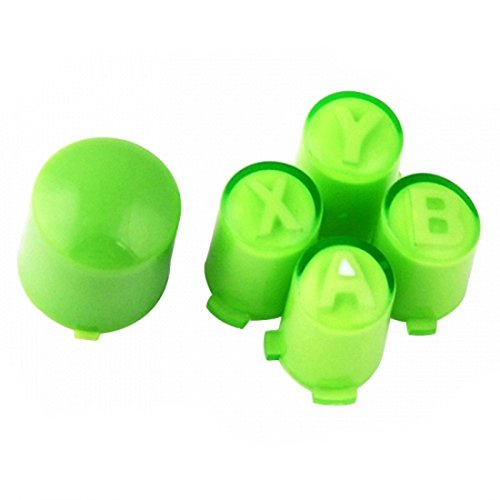 (ModFreakz™ ABXY/Guide Button Kit Clear Green For Xbox 360 Controller)