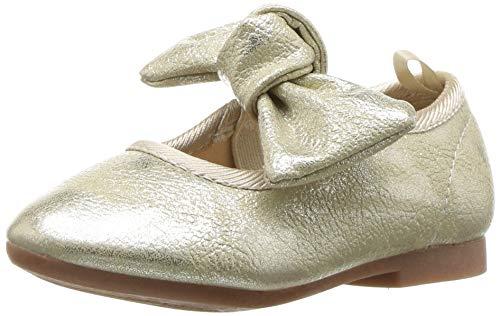 OshKosh B'Gosh Girls' Tara Ballet Flat Gold 6 M US ()