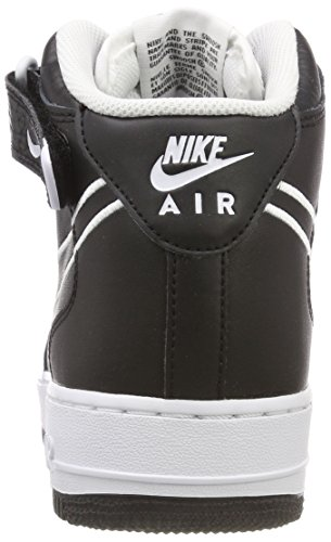 black white 1 Nero Mid Basket Scarpe Da '07 Uomo 001 Lthr Air Force Nike Pqw464