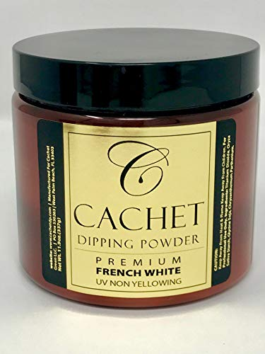 Premium Pink & White Cachet Dipping Powder in 16 oz Jar -Long Lasting Nail Enhancement Formular (Super ()