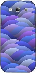 Snoogg Azul Resumen Olas Diseñador Protectora Volver Funda Para El Samsung Ga...