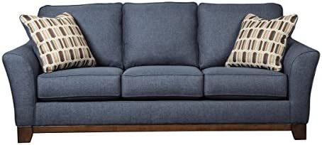 Benchcraft Janley Contemporary Upholstered Sofa   Denim