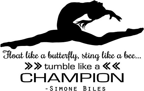 Simone Biles Gymnastics Quote | Girl's Vinyl Wall Decal / Decor - USA Olympics Gymnast Decoration - 20''x14'' [Biles 2] by DS Inspirational Decals