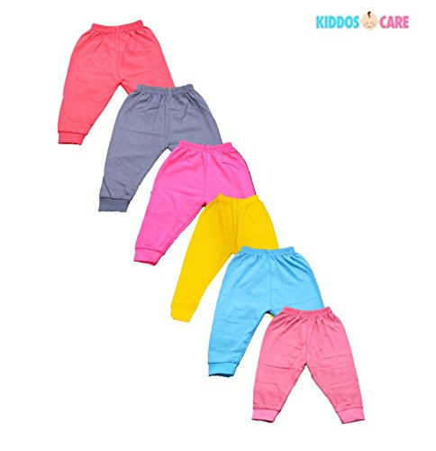 KiddosCare Baby Track Pant Dark Color Soft Cotton With Rib Design (Pack of 6)