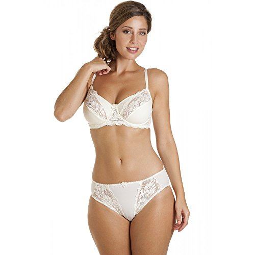 0ba888e66144f7 Camille Womens Underwired Ladies Non Padded Full Cup Ivory Lace Bra ...