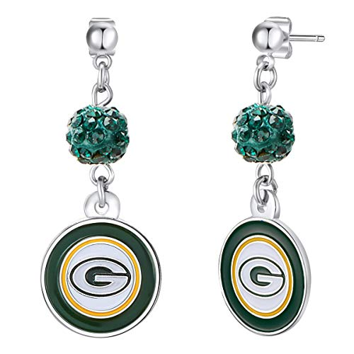 NFL Green Bay Packers Logo Shambala Post Earrings