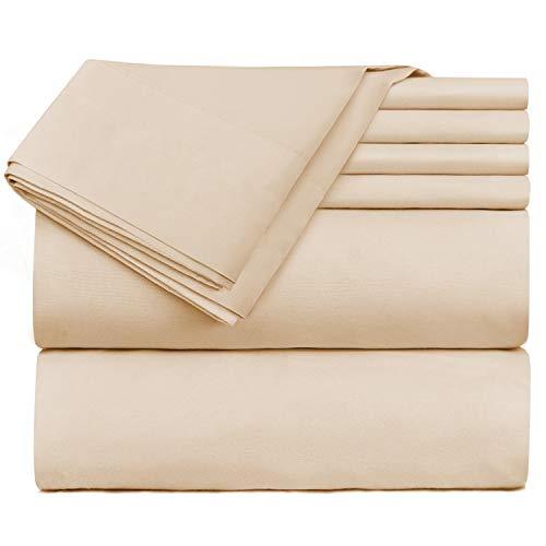 Nestl Bedding Extra Deep Pocket Sheets - Super Deep Fitted Sheet 18