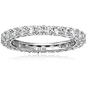 Amazon-CollectionPlata-de-ley-platinum-plated-Ronda-Cut-Circonio-Cbico-Stacking-Anillo