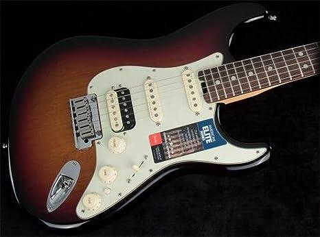 Fender American Elite Stratocaster HSS shawbucker palisandro diapasón guitarra eléctrica sunburst en 3 colores: Amazon.es: Instrumentos musicales