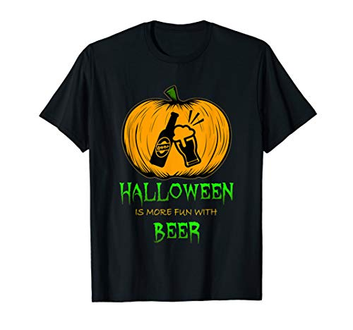 Halloween Beer Pumpkin Carving Draft Boozer Alcoholic Drink T-Shirt