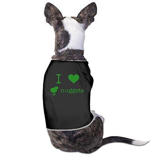 [I Love Chicken Nuggets Graphic Print Dog Coats Vest] (Chicken Nugget Costume)
