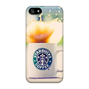 Shock-Absorbing Hard Phone Cover For Iphone 5/5s With Support Your Personal Customized Attractive Starbucks Pictures JonBradica