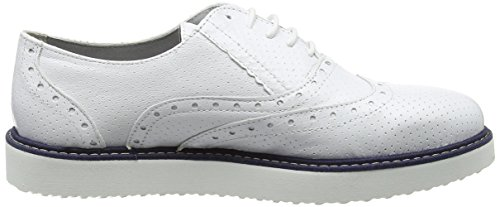 Ippon Vintage Andy-perfo1, Scarpe Stringate Derby Donna Bianco (Blanc Blanc)
