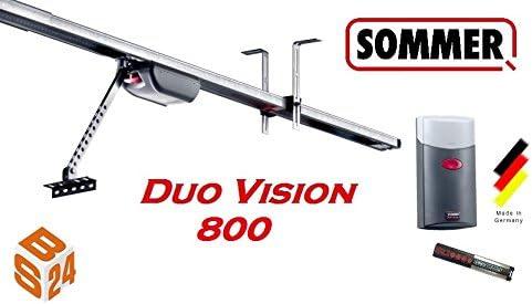 /Ét/é porte de garage 800 duo vision avec rail