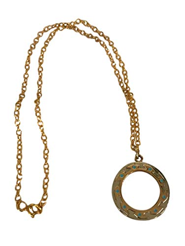 Xena Warrior Princess Chakram Metal Pendant Chain Necklace