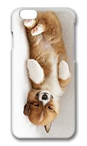 MOKSHOP Adorable cute puppy sleep Hard Case Protective Shell Cell Phone Cover For Apple Iphone 6 (4.7 Inch) - PC 3D