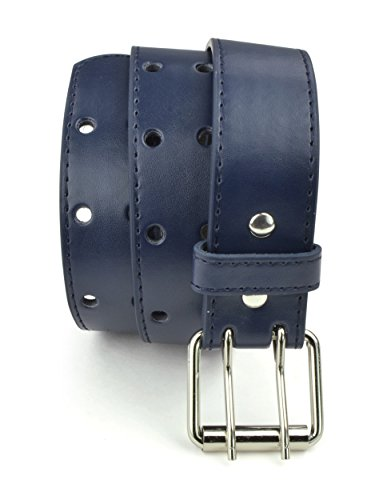 Belle Donne - Girl's Leather Two Hole Perforated Jean Belt - Navy/Medium