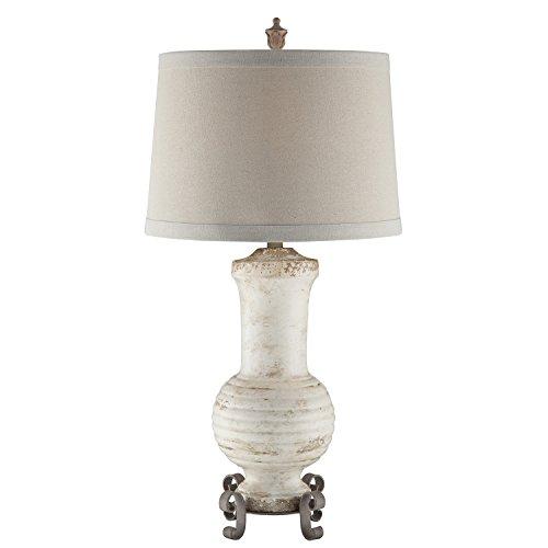 Crestview Collection Andrea Cream Ceramic Table Lamp