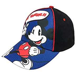 Disney Boys Mickey Mouse Cotton Baseball Cap Hat Age 4-7 Blue