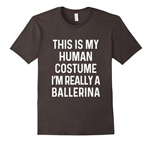 Ballerina Costume Ideas For Halloween (Mens Funny Ballerina Costume Shirt Halloween Adults Kid Men Women Medium Asphalt)