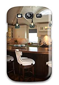Galaxy S3 Eat-in Kitchen With Bright Green Cabinets Print High Quality Tpu Gel Frame Case Cover