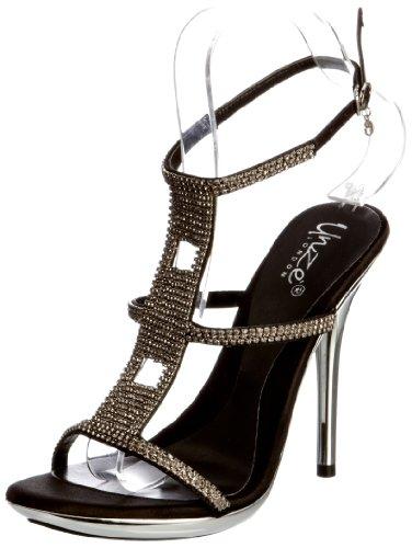 Unze Evening Sandals L18856W - Sandalias para mujer Negro