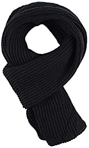 Pesaat Casual Winter Men Infinity Scarf Long Warm Cable Knit Scarves Autumn